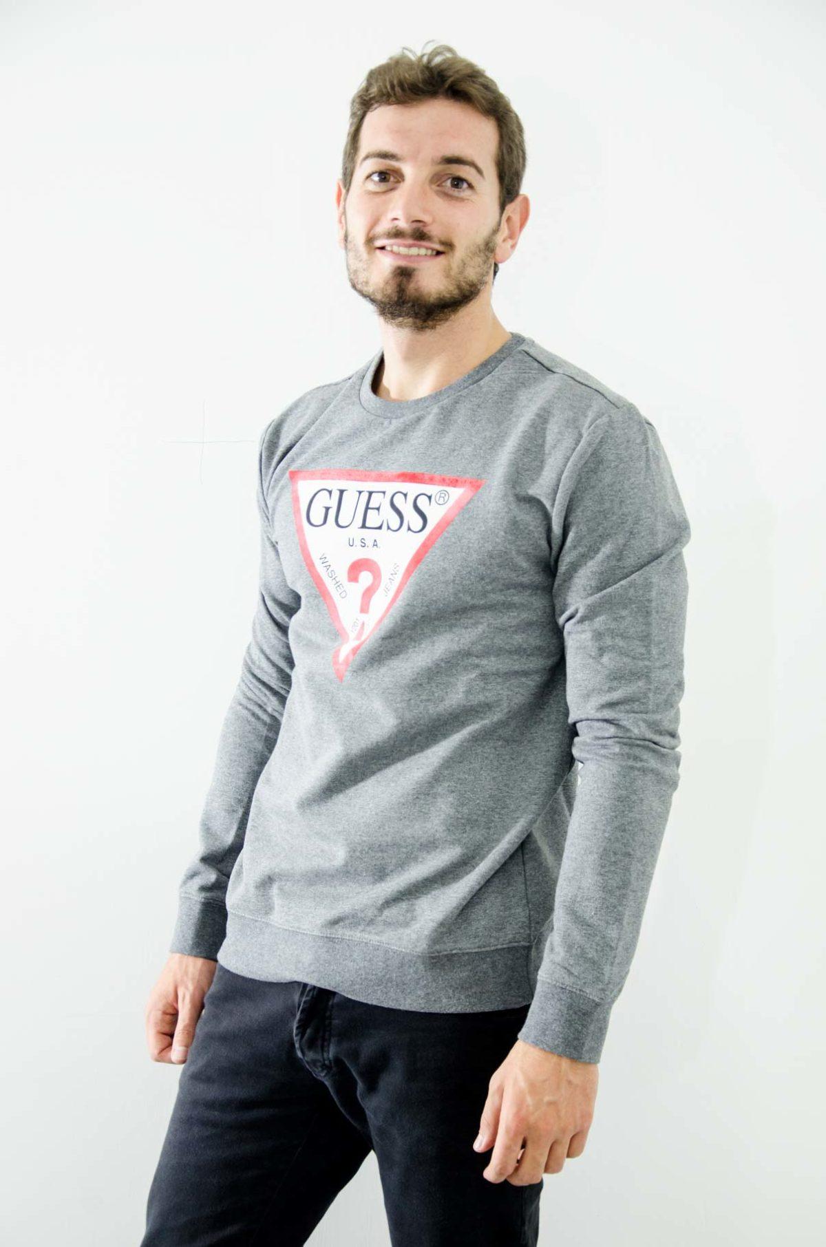 Guess Felpa Uomo grigio