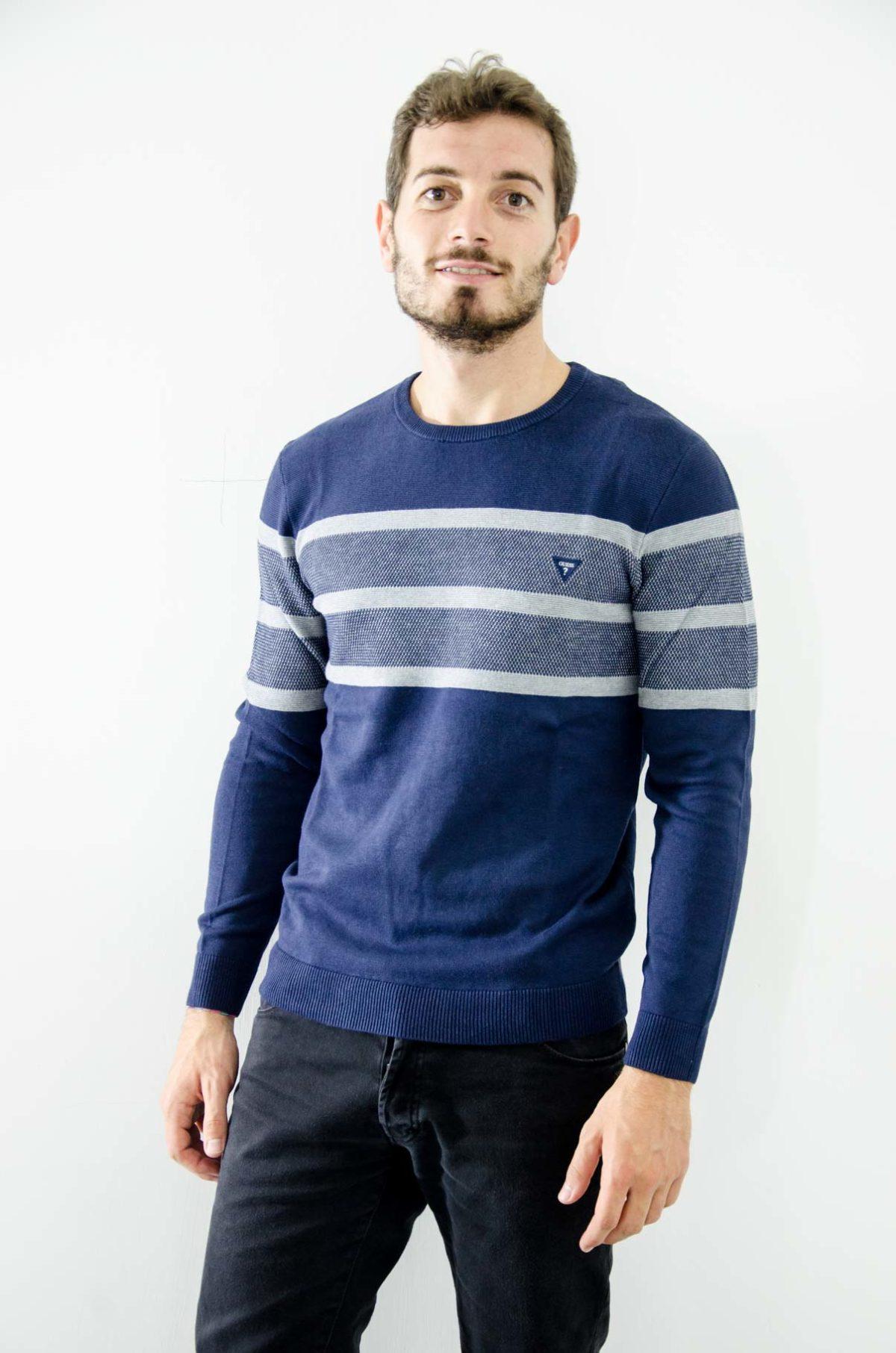 Guess-Magliaa-Uomo-grigio-blu