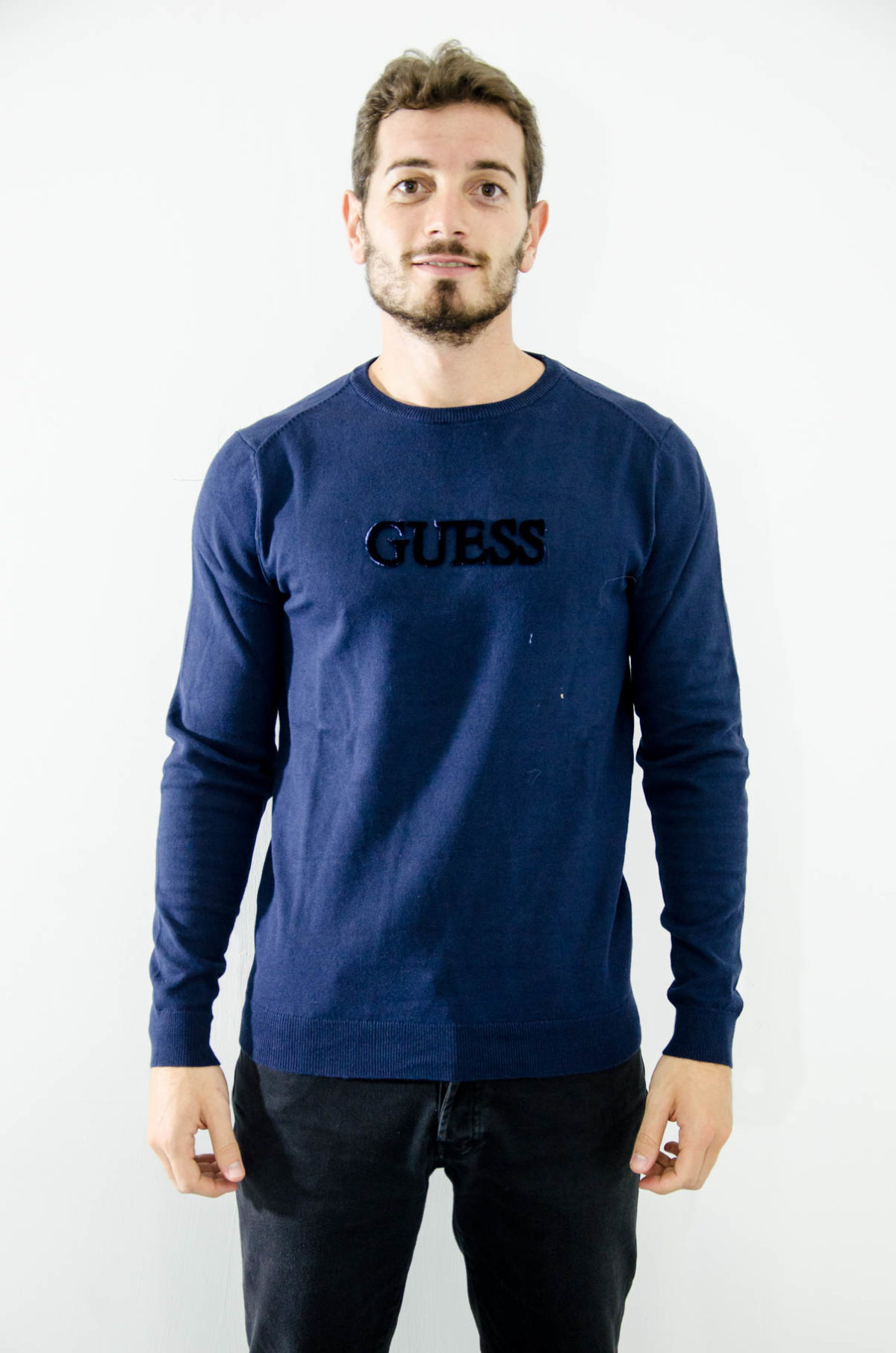 Guess-Maglia-Uomo-blue